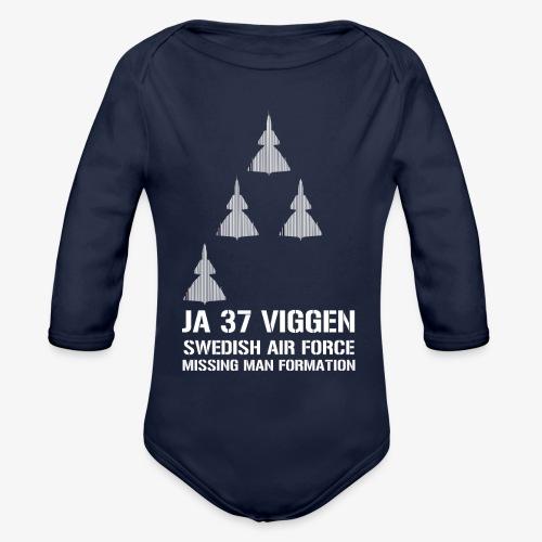 JA 37 Viggen - Missing Man Formation - Ekologisk långärmad babybody