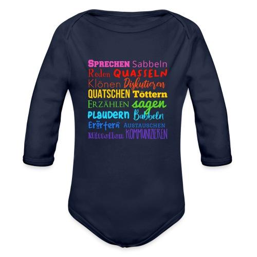 Sprechwörter Regenbogen - Baby Bio-Langarm-Body