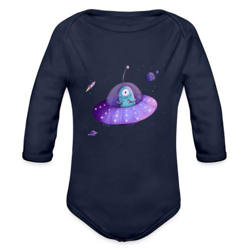 Alien im Raumschiff - Baby Bio-Langarm-Body