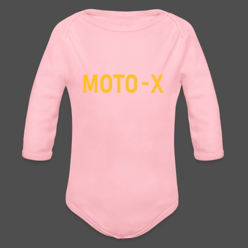 moto x - Ekologiczne body niemowlęce z długim rękawem