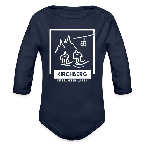 Skiing Kirchberg - Baby bio-rompertje met lange mouwen