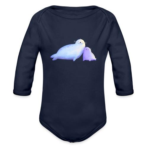 Kleine Robben - Baby Bio-Langarm-Body