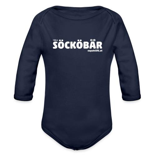 supatrüfö söcköbär - Baby Bio-Langarm-Body