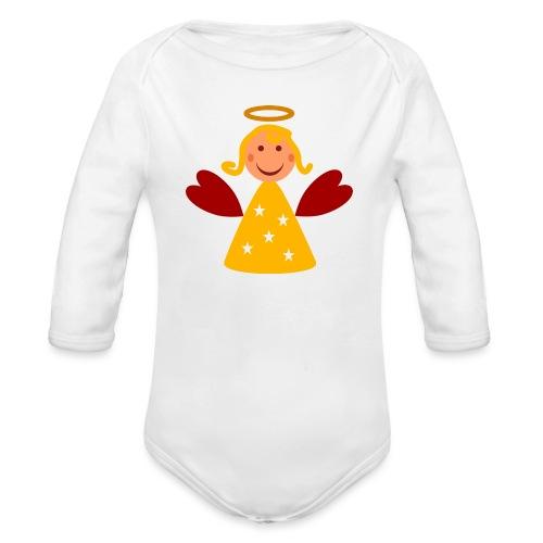 Schöner Engel mit Heiligenschein Süßes Engelchen - Baby Bio-Langarm-Body