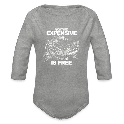 0881 FJR wind is free - Baby bio-rompertje met lange mouwen