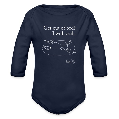 Greyhound roaching - Organic Longsleeve Baby Bodysuit