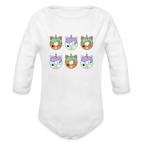 Unicorn Donut - Body ecologico per neonato a manica lunga