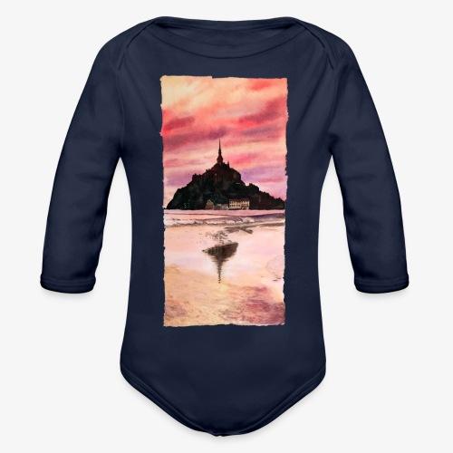 Mont St Michel - Organic Longsleeve Baby Bodysuit