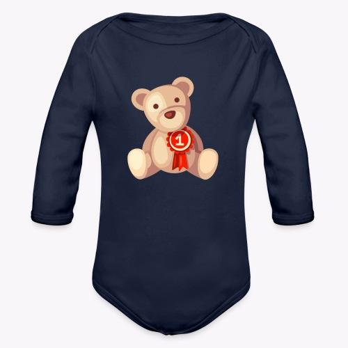 Teddy Bear - Organic Longsleeve Baby Bodysuit