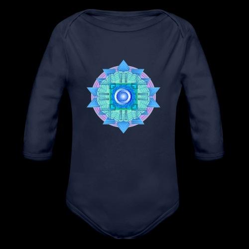 mandala 3 - Organic Longsleeve Baby Bodysuit