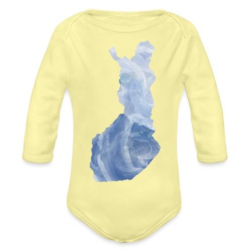 Suomi Finland - Vauvan pitkähihainen luomu-body