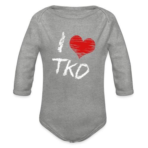 I love tkd letras blancas - Body orgánico de manga larga para bebé