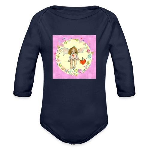 Kleiner rosa Engel - Baby Bio-Langarm-Body