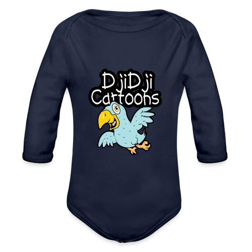 DjiDji Cartoons - Baby bio-rompertje met lange mouwen