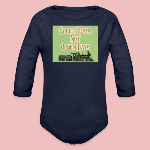 Golden Days - Organic Longsleeve Baby Bodysuit