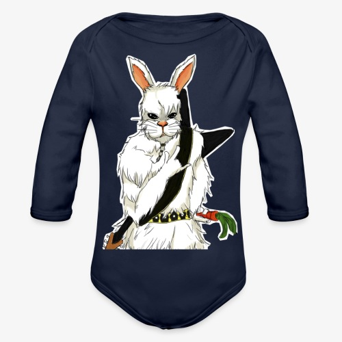 The white Rabbit - Økologisk langermet baby-body