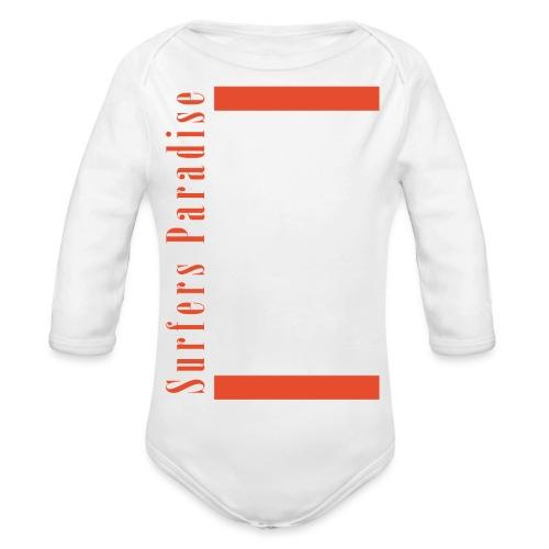 Patame Surfers Paradise White - Baby Bio-Langarm-Body