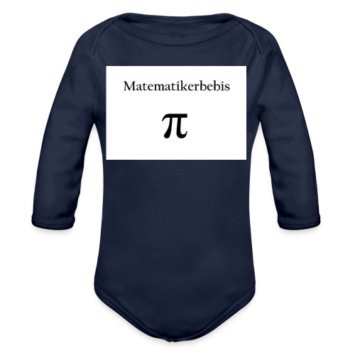 Matematikerbebis jpg - Ekologisk långärmad babybody