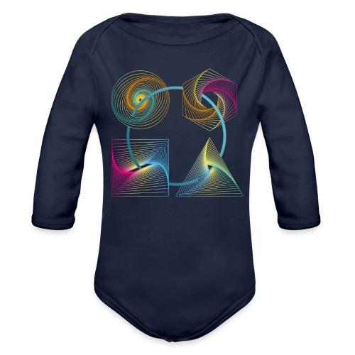 Regenbogen Geometrie - Baby Bio-Langarm-Body