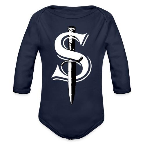 White Dagger S - Body ecologico per neonato a manica lunga