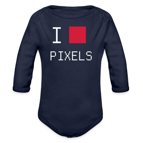I love pixels chemise nerd - Body Bébé bio manches longues