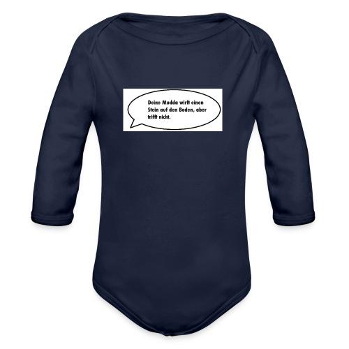deine-mutter-witze-0 - Organic Longsleeve Baby Bodysuit