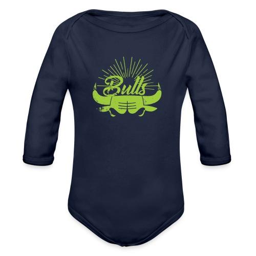 Toros verdes, Bulls BasketBall deporte - Body orgánico de manga larga para bebé