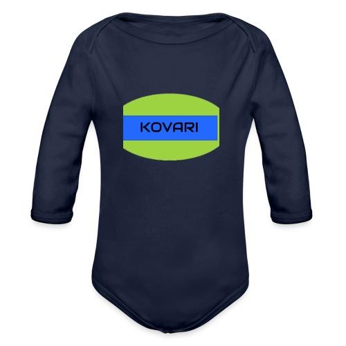 Kovari Logo - Vauvan pitkähihainen luomu-body