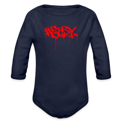 #EASY Graffiti Logo T-Shirt - Body ecologico per neonato a manica lunga