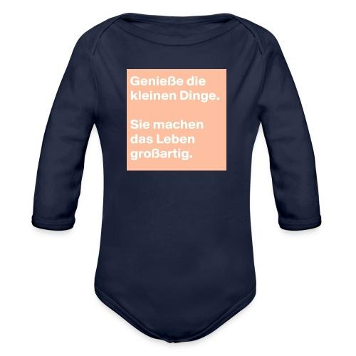 Sprüchekleidung - Baby Bio-Langarm-Body