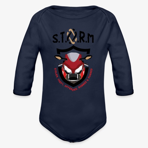 Stolen Theft Offended Robbed Mugged - Organic Longsleeve Baby Bodysuit