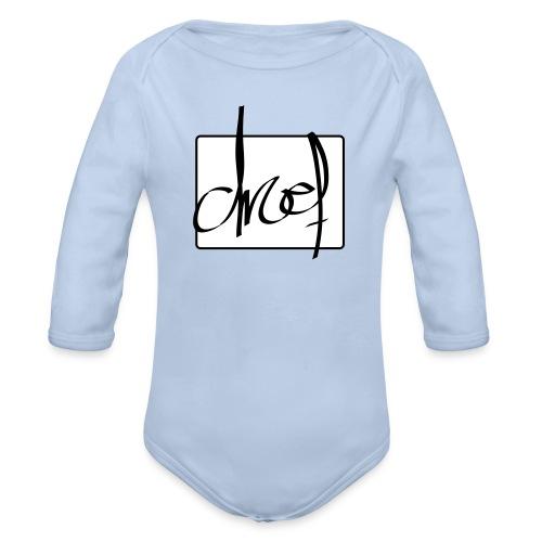 Droef.Gent logo zwart - Baby bio-rompertje met lange mouwen