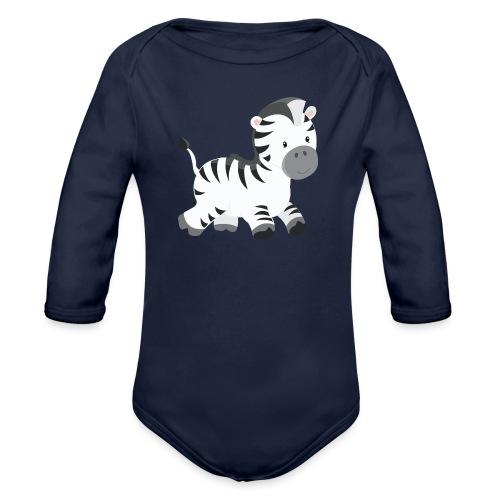 Zebra - Baby Bio-Langarm-Body