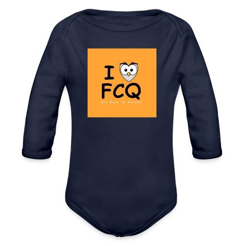 I Love FCQ button orange - Baby Bio-Langarm-Body