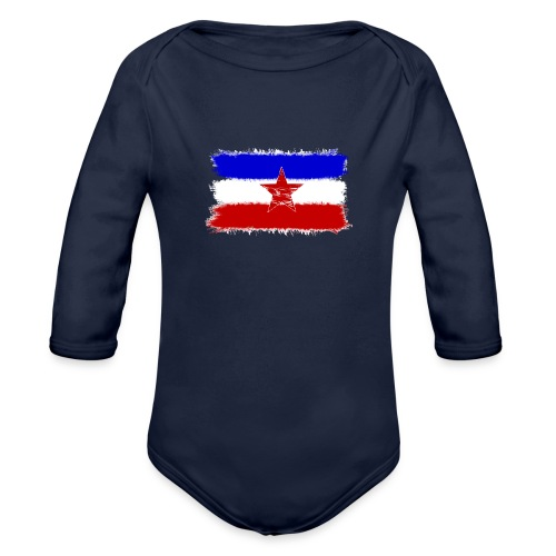 Jugo Flagge 1 Handy png - Baby Bio-Langarm-Body