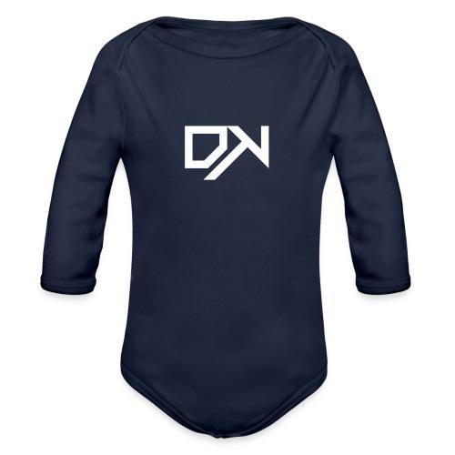 DewKee Logo Shirt Black - Organic Longsleeve Baby Bodysuit
