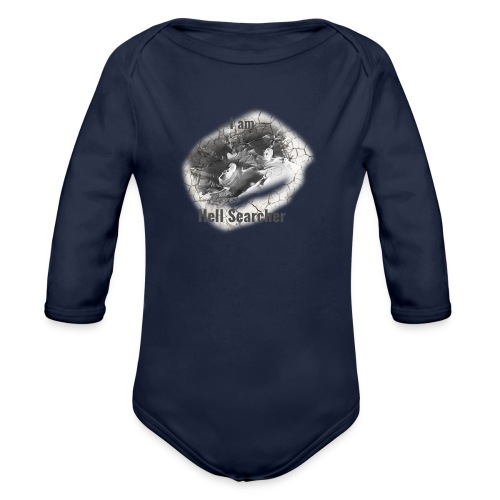 I am Hell Searcher T-Shirt White - Organic Longsleeve Baby Bodysuit