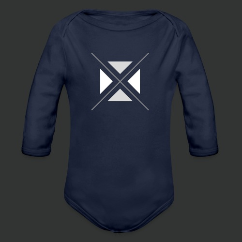 hipster triangles - Organic Longsleeve Baby Bodysuit