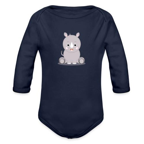 Baby Nashorn Nika - Baby Bio-Langarm-Body