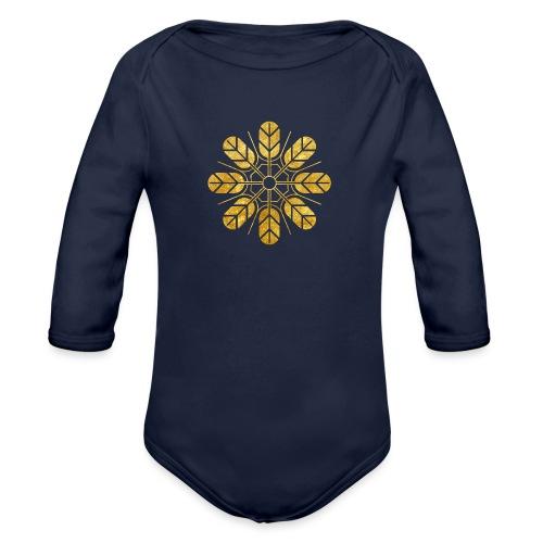 Inoue clan kamon in gold - Organic Longsleeve Baby Bodysuit