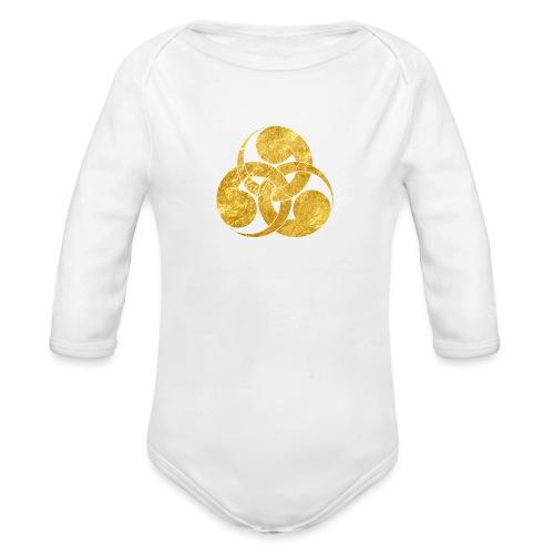 Tadpole Mon Japanese samurai clan - Organic Longsleeve Baby Bodysuit