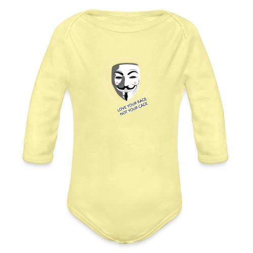 Anonymous Love Your Rage - Organic Longsleeve Baby Bodysuit