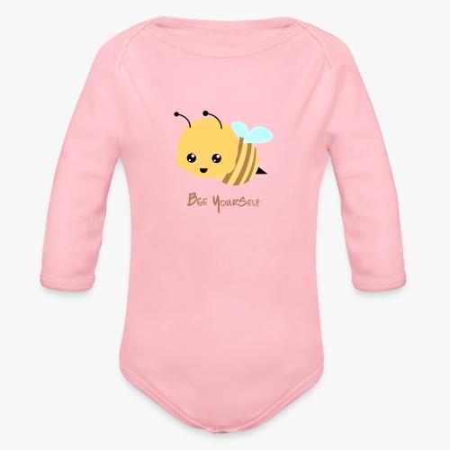Bee Yourself - Langærmet babybody, økologisk bomuld