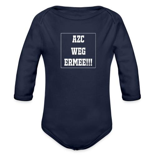 Protest t-shirt tegen de vluchtelingen. - Baby bio-rompertje met lange mouwen