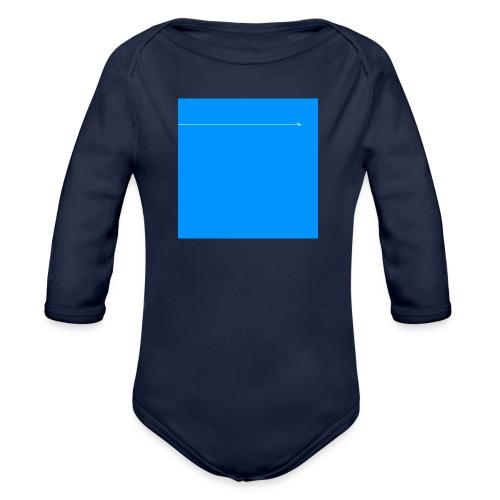 sklyline blue version - Body Bébé bio manches longues