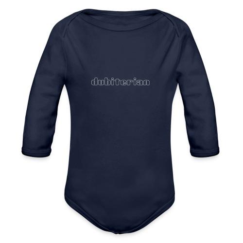dubiterian1 gif - Organic Longsleeve Baby Bodysuit