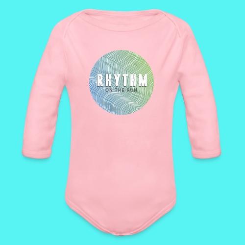 Rhythm On The Run Logo - Organic Longsleeve Baby Bodysuit