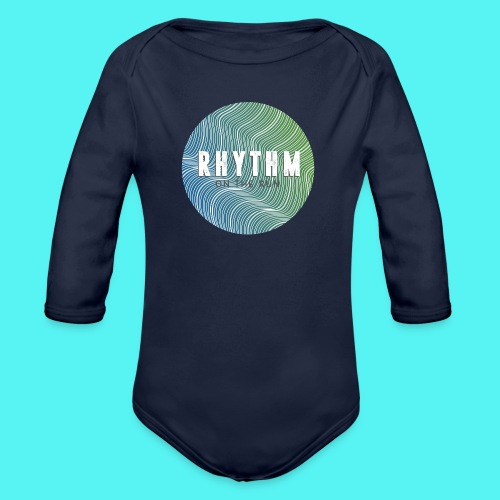 Rhythm On The Run Logo - Organic Longsleeve Baby Bodysuit