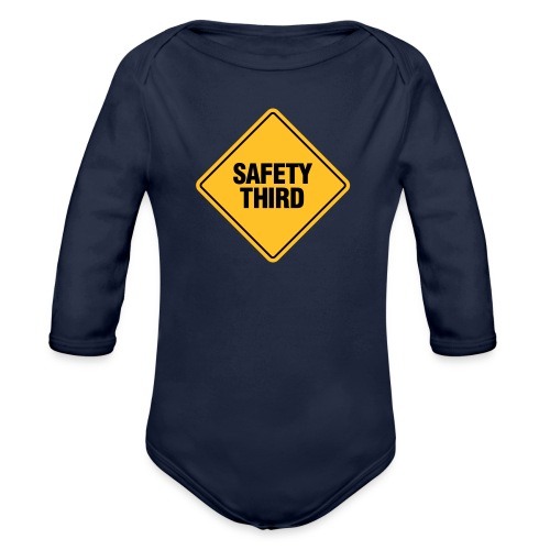 SAFETY THIRD - Organic Longsleeve Baby Bodysuit