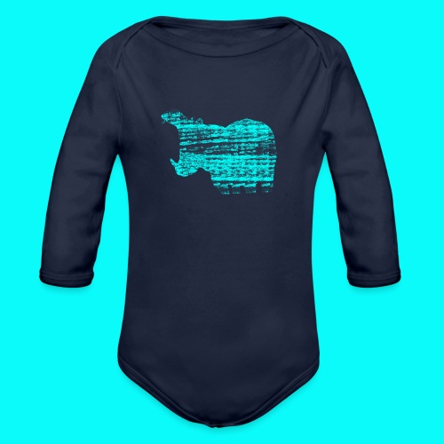 STAFF PICKS - HIPPOPOTAMUS - Ekologisk långärmad babybody